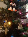 You can tell a lot about people from their ornaments (we like penguins, Star Wars and music!).